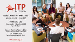ITP Local Patient Meeting - Brisbane QLD
