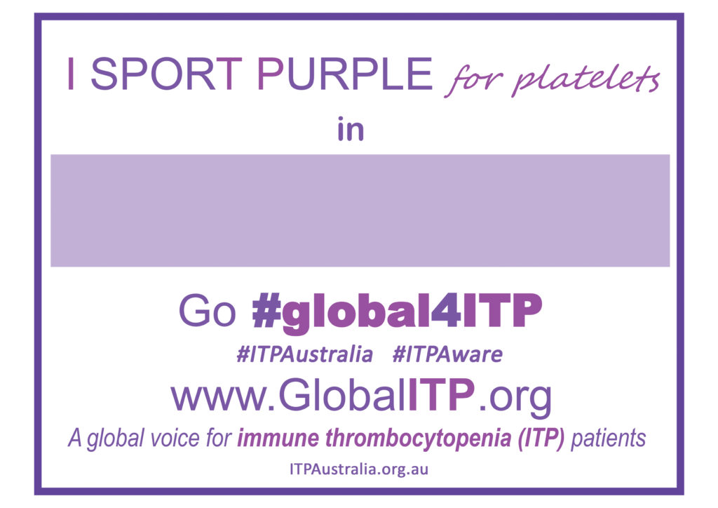 Global ITP Awareness Sign